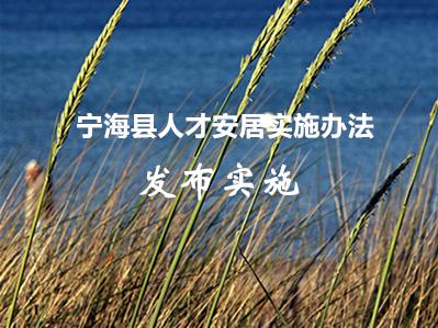 宁海县人才安居实施办法
